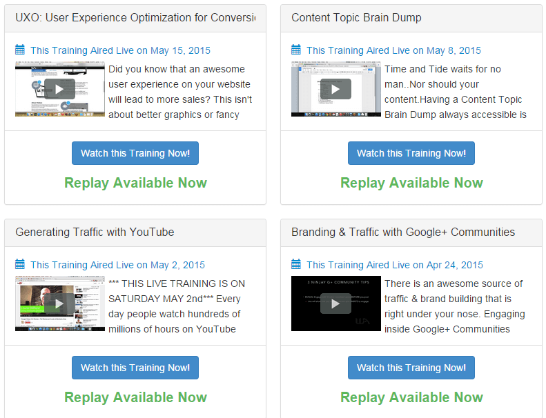 photo of wealthy affiliate webinars
