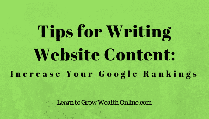 Tips For Writing Website Content Image