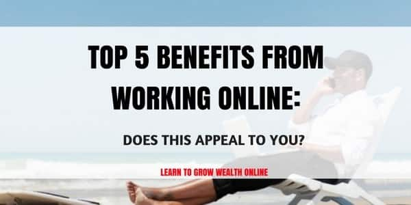 benefits from working online photo