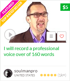 Fiverr Service for Voice over Option to Make YouTube Videos