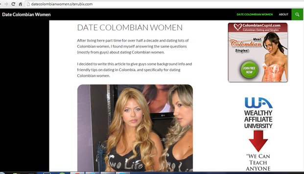 An example of a website for dating women built with Site Rubix