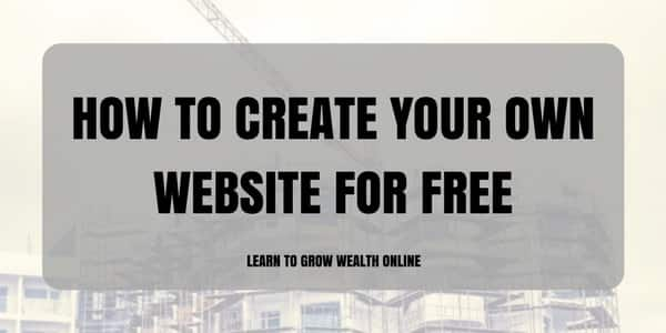 how to create your own website for free image