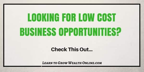 Low Cost Business Opportunities Image