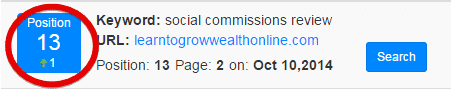 keyword rank position checker for this website Learn to Grow Wealth Online