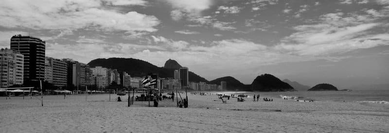 Photo I took at the beach Copacabana in Rio de Janeiro, Brazil.
