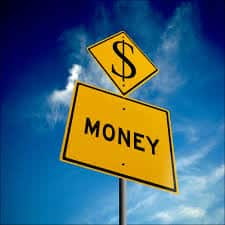 An image showing a money street sign.