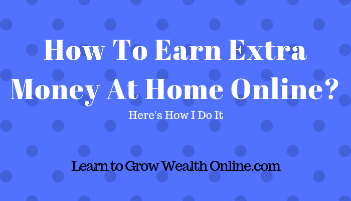 How To Earn Extra Money At Home Online Image