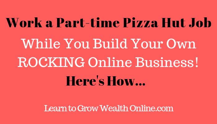 Pizza Hut Jobs Part Time Image