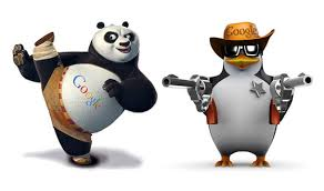 photo of Google panda and penguin that will decrease success using the killer content system.