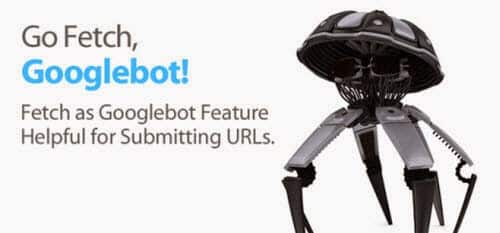 The logo and headline for Googlebot for fetching submitting URLs.