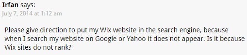 what is wix website builder screenshot of a wix costumer complaint