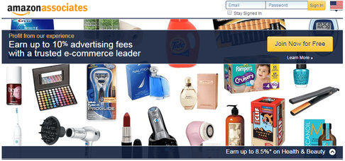 An image of Amazon Associates platform where you can sign-up to become an Amazon affiliate.