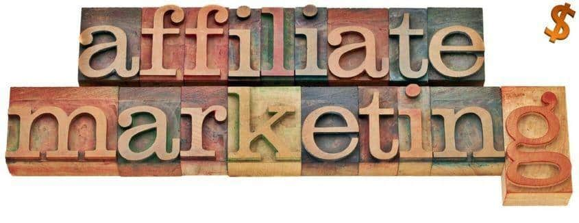 """A graphic with the text that says, """"Affiliate Marketing""""."""