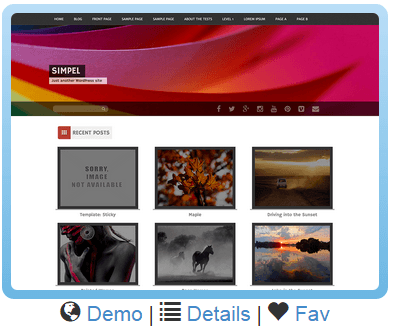 An example of a website template from Site Rubix.