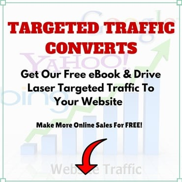Image that links to a free eBook where you can learn to drive targeted traffic to your website or online business.
