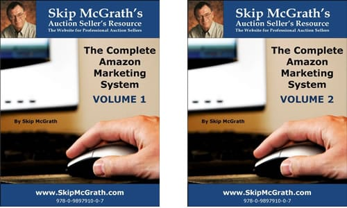 A picture showing Skip McGrath's The Complete Amazon Marketing System Volume 1 and 2.