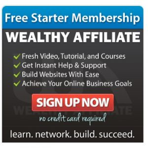 Wealthy Affiliate's ad that shows attributes from their program to help you build an online business.