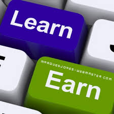 what is making money online photo stating earn and learn