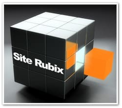 A picture showing a cube of Site Rubix, a free website builder.