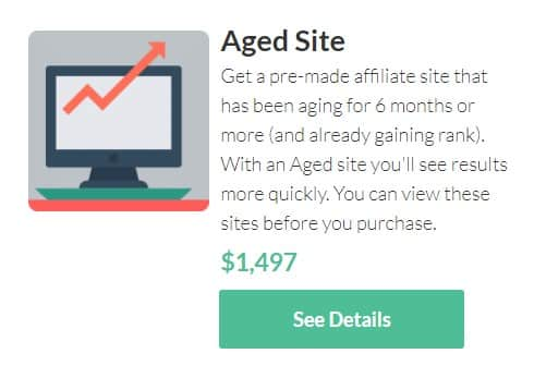 Another website-buying option from Human Proof Designs for an Aged ready-made niche website.
