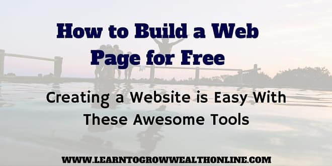 how to build a web page for free image
