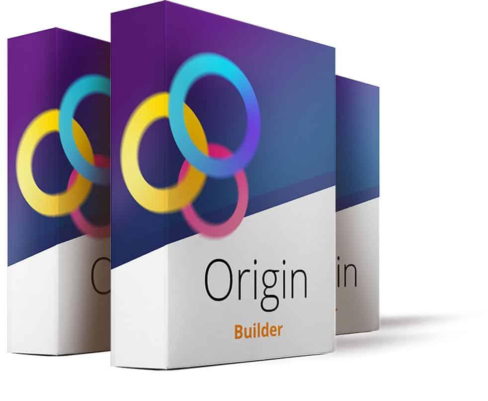 A logo showing the digital cover for Origin Builder.