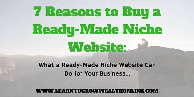 A picture that links to an article about buying read made niche websites.