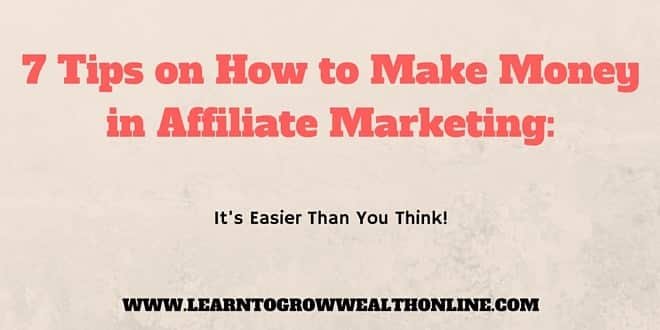how to make money in affiliate marketing image