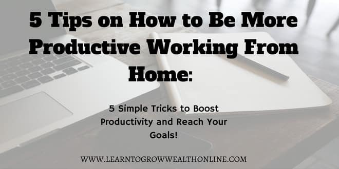 how to be more productive working from home image