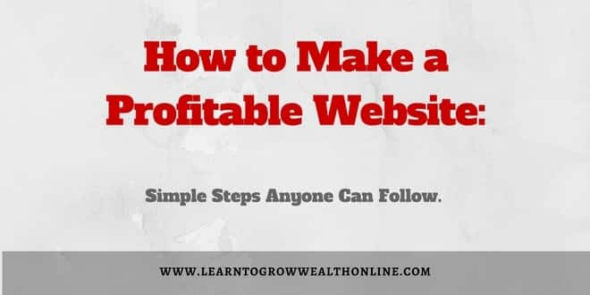 How to Make a Profitable Website Image
