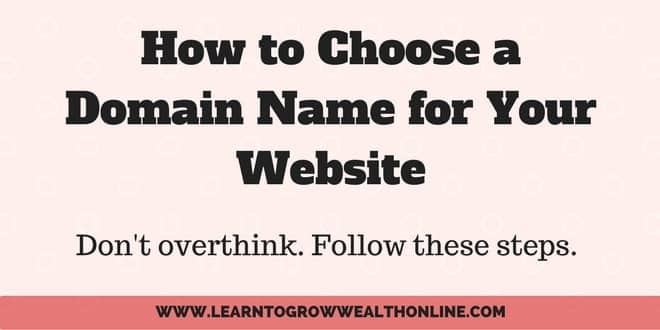how to choose a domain name for your website image