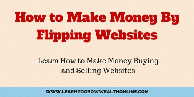 How to Make Money By Flipping Websites Cover Photo