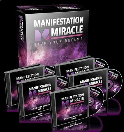 A picture showing the cover for Manifestation Miracle products.
