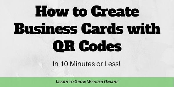 How to create business cards with qr codes in 10 minutes or less colourmoves