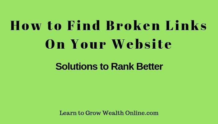 how to find broken links on your website image
