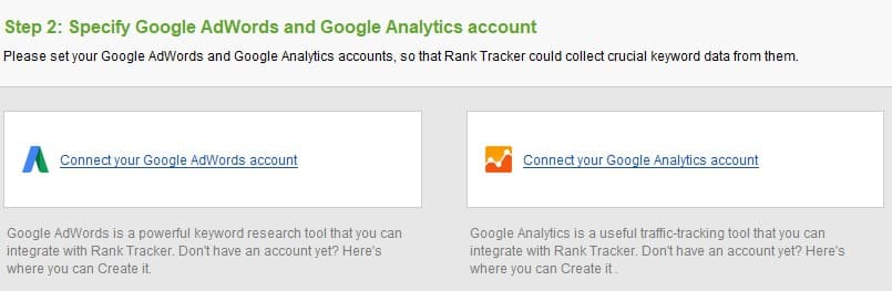 A screenshot of SEO Rank Tracker, a SEO Powersuite product.