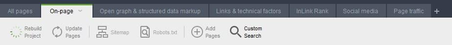 A screenshot of seo powersuite's website audit tool.