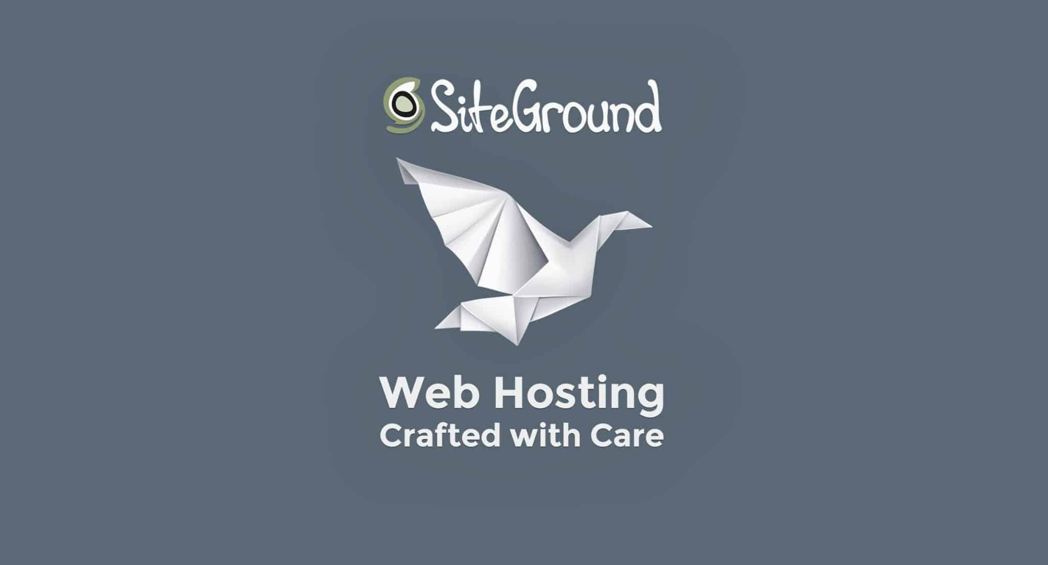 A picture of SiteGround's logo, one of the best hosting companies for WordPress.