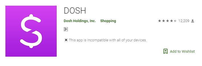 A screenshot of Dash App in the Google Play Store