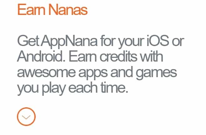 A screenshot from AppNana showing the benefits of the platform.