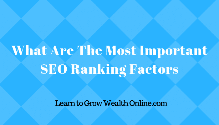 What Are The Most Important SEO Ranking Factors Image