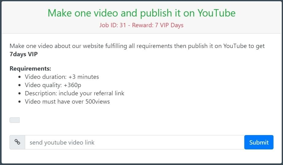 An example of MineNaira's YouTube tasks, make one video and publish it on YouTube