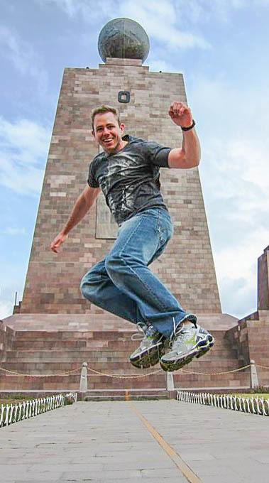Todd Maltzahn at Middle of the World Equator