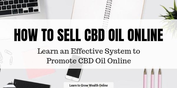 cover image with title that states how to sell cbd oil online