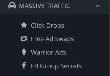 A picture from Income League showing their recommended traffic sources.