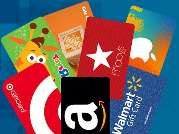 A screenshot from Bizrate Rewards showing various brand name reward cards that you can earn on the platform.