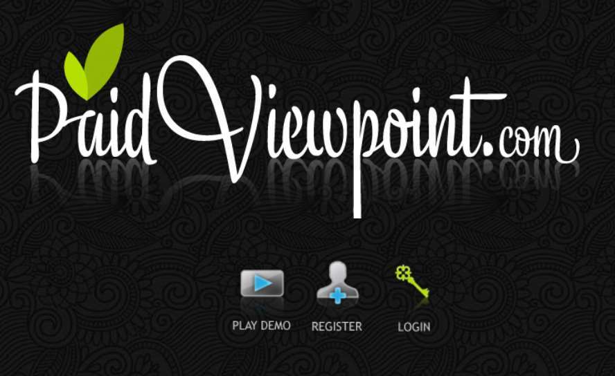 A screenshot of the Paidviewpoint platform's website homepage.
