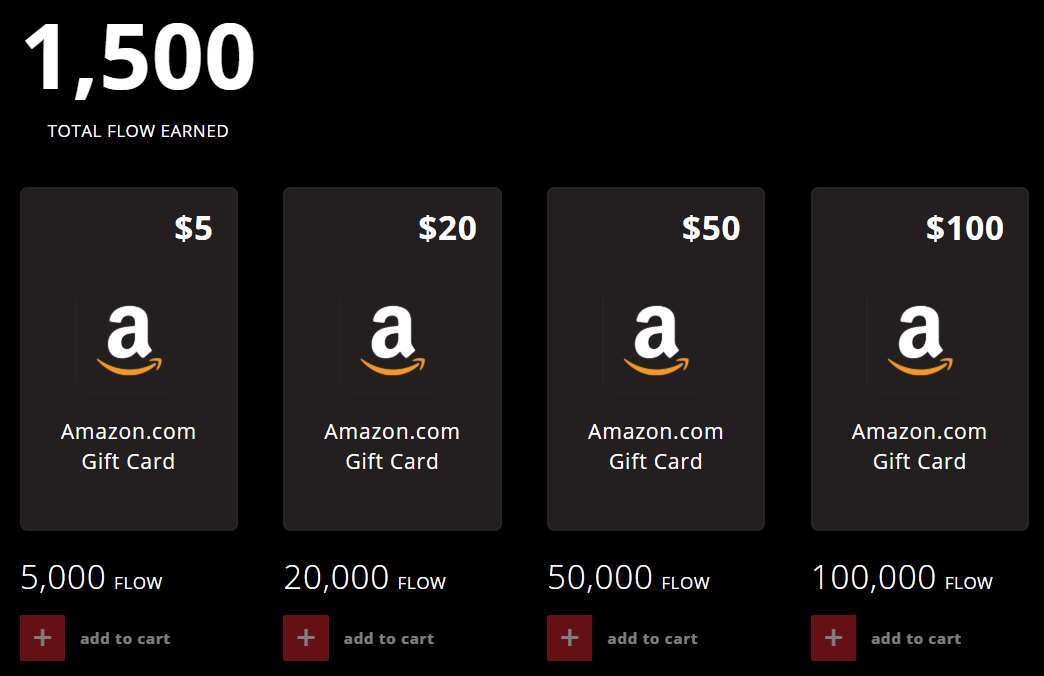 A screenshot showing Volkno's Amazon Gift Card store.