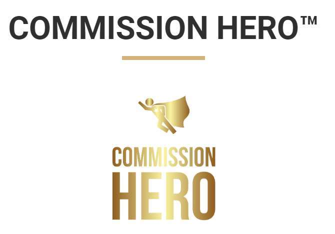 A screenshot showing the Commission Hero logo.