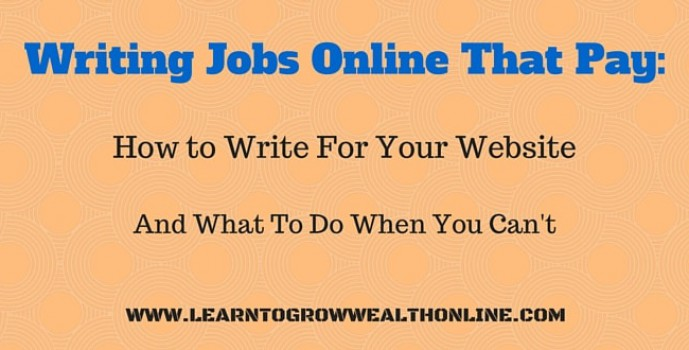 Writing papers for money jobs